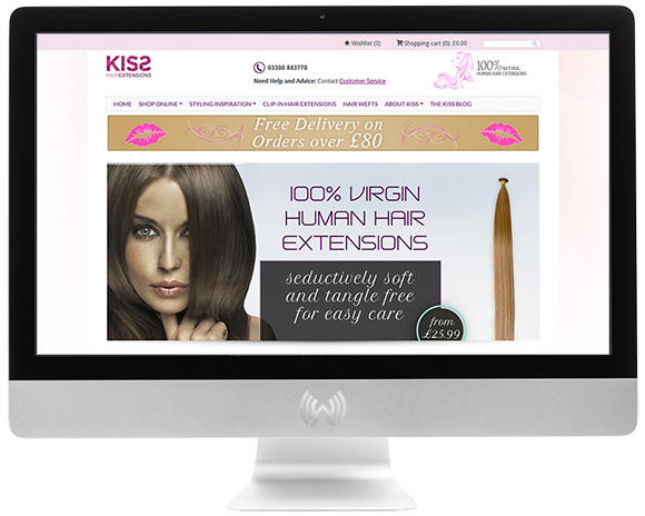 ECommerce Website For Kiss Hair Extensions